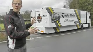 Inside the TaylorMade Tour Van