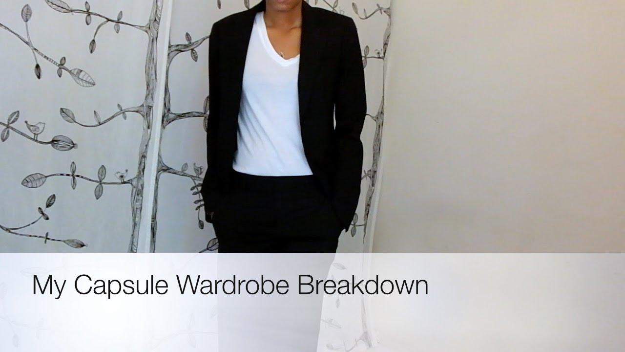 Minimalist Style Capsule Wardrobe Breakdown Youtube