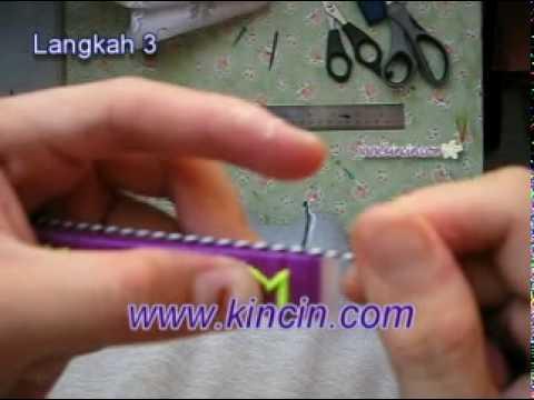 Belajar Cara Membuat Kraftangan Keychain Sulaman Benang