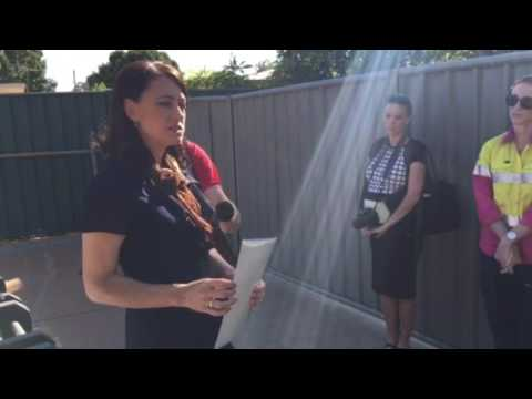 Southern Gulf's Sophie Keily speaks on the prize donated to School of the Air