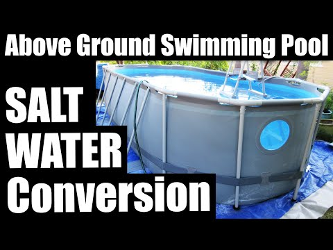 Salt Water Pool System - Saltwater Summer Waves Chlorinator - Chlorine Generator Above Ground Pools