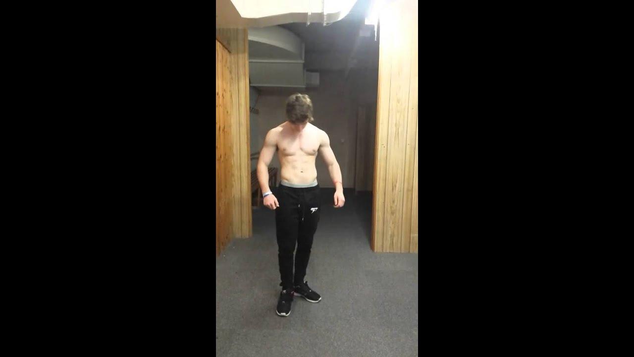 15 Year Old Ripped bodybuilder Trains Back|Flex show