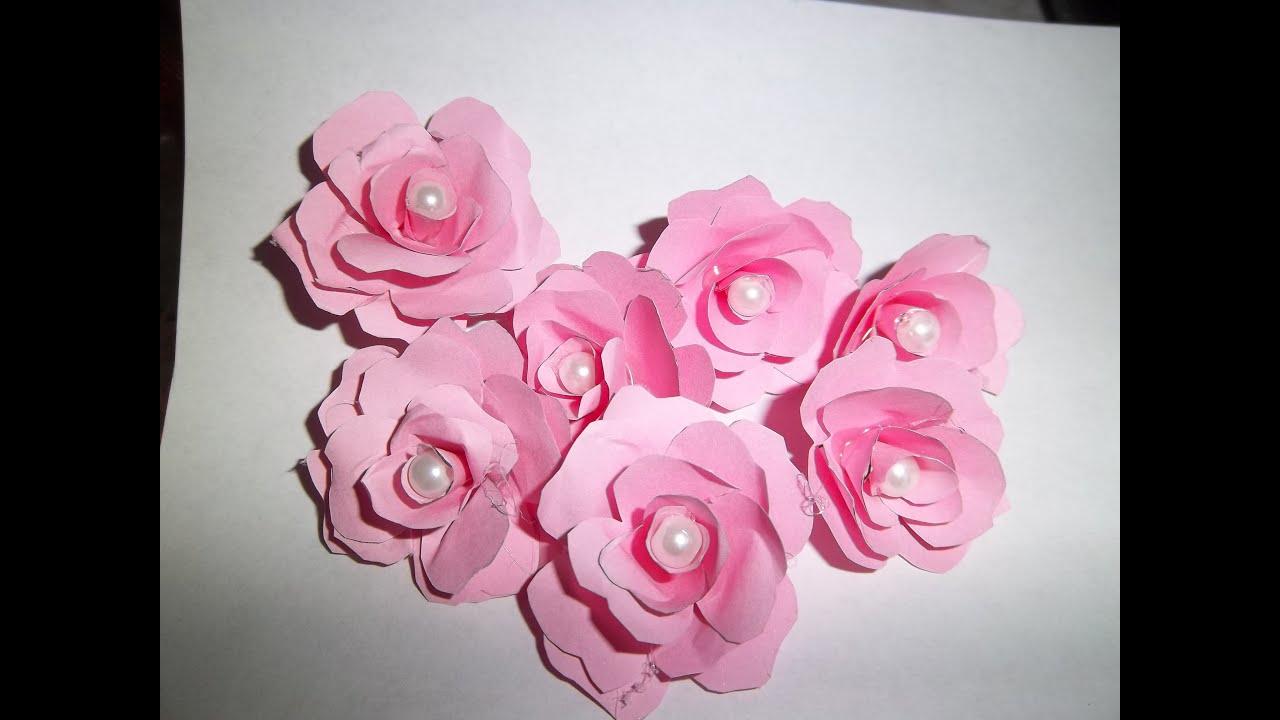 Como hacer Flores de Papel para tus proyectos de Scrap y