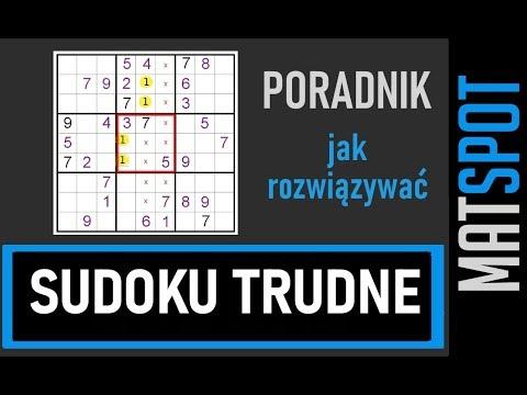 Sudoku Trudne Jak Rozwiązywać Youtube