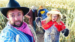 Hiding From Bandits in a Corn Maze!