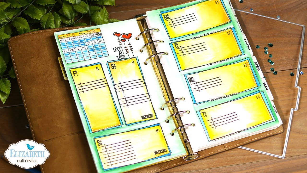 Diy Agenda Planner Pages Technique Friday With Els Youtube