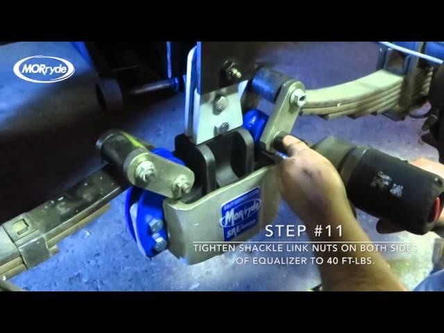 MORryde SRE4000 Suspension with Crossmeber Installation