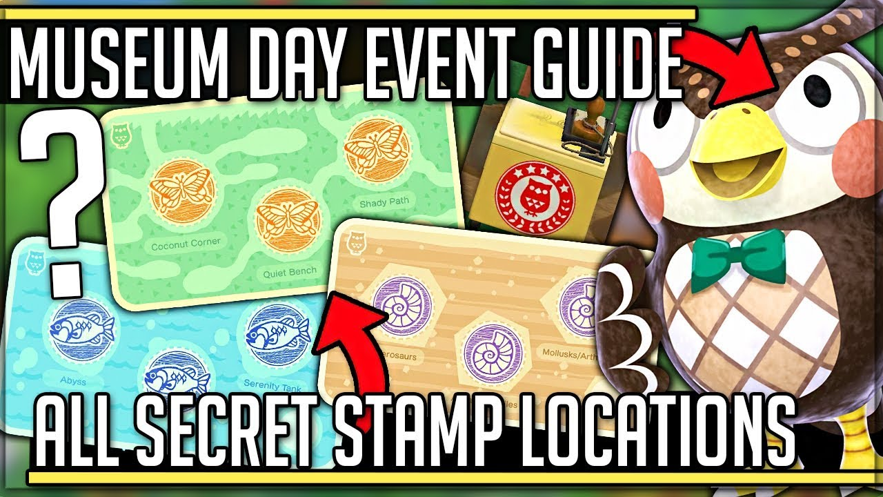 Museum Day Event Guide How To Get All Stamps Rewards Animal Crossing New Horizons Acnh Youtube