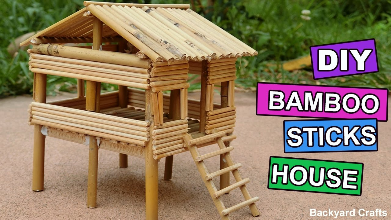 Diy Bamboo Sticks House Easy Step By Step Backyard Crafts Youtube