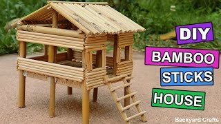 DIY Bamboo Sticks House : Easy Step by Step | Backyard Crafts