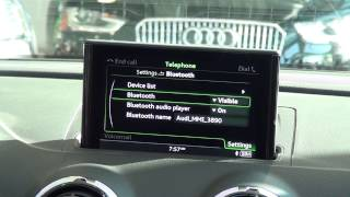 Bluetooth Technology Pairing for the Audi A3, Audi TT and Audi R8