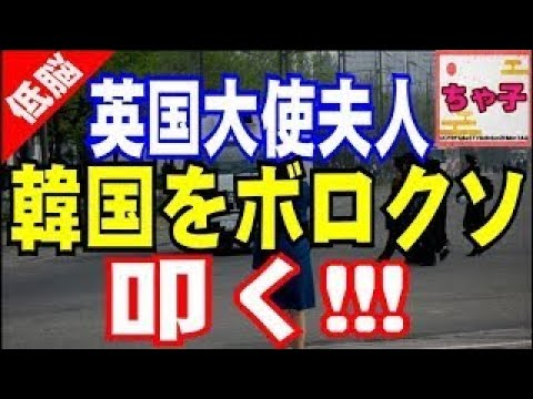駐韓英国大使夫人が韓国をボロクソ批判!『おまエラの正体を広めたい!!!』正論を突かれた韓国人は頓挫するwww