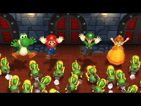 Mario Party 9 - Yoshi vs Mario vs Luigi vs Daisy| Step It Up Master Difficulty| Cartoons Mee