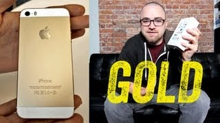 iPhone 5s Unboxing (GOLD iPhone 5s Launch Day Unboxing)