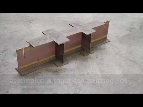 ideas to assemble H steel beams without using the jigs assembly