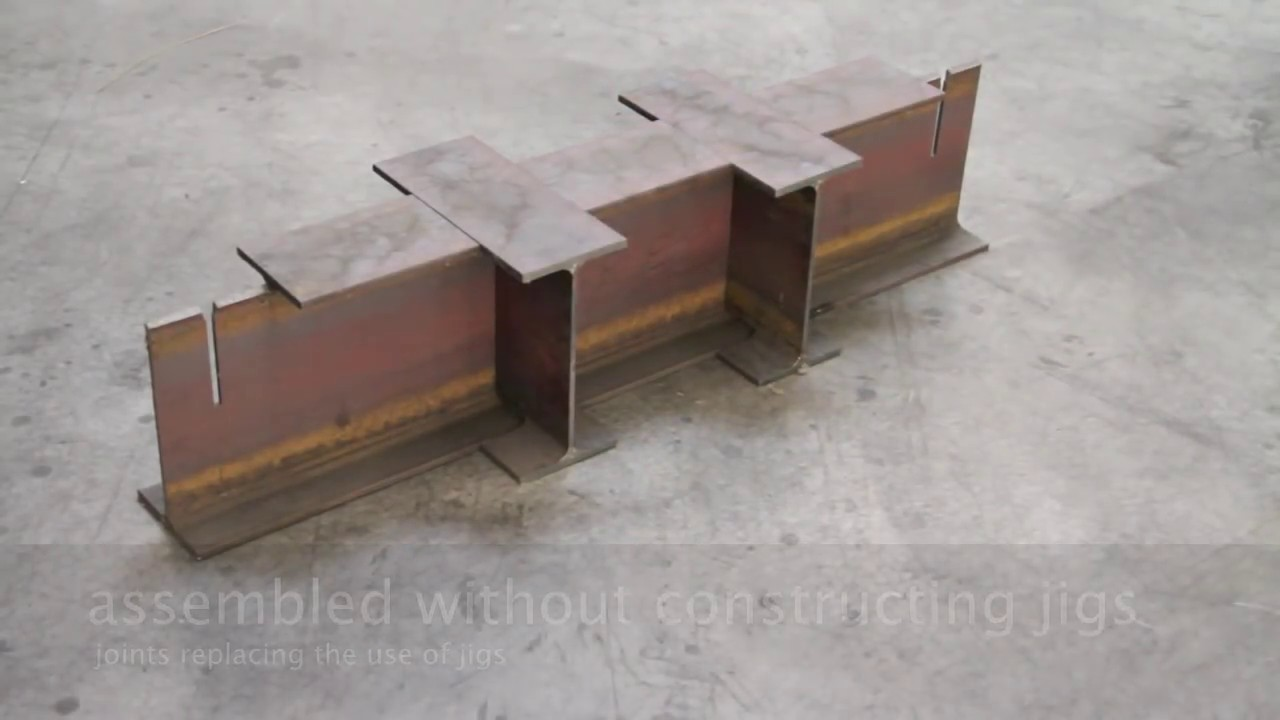 Ideas To Assemble H Steel Beams Without Using The Jigs