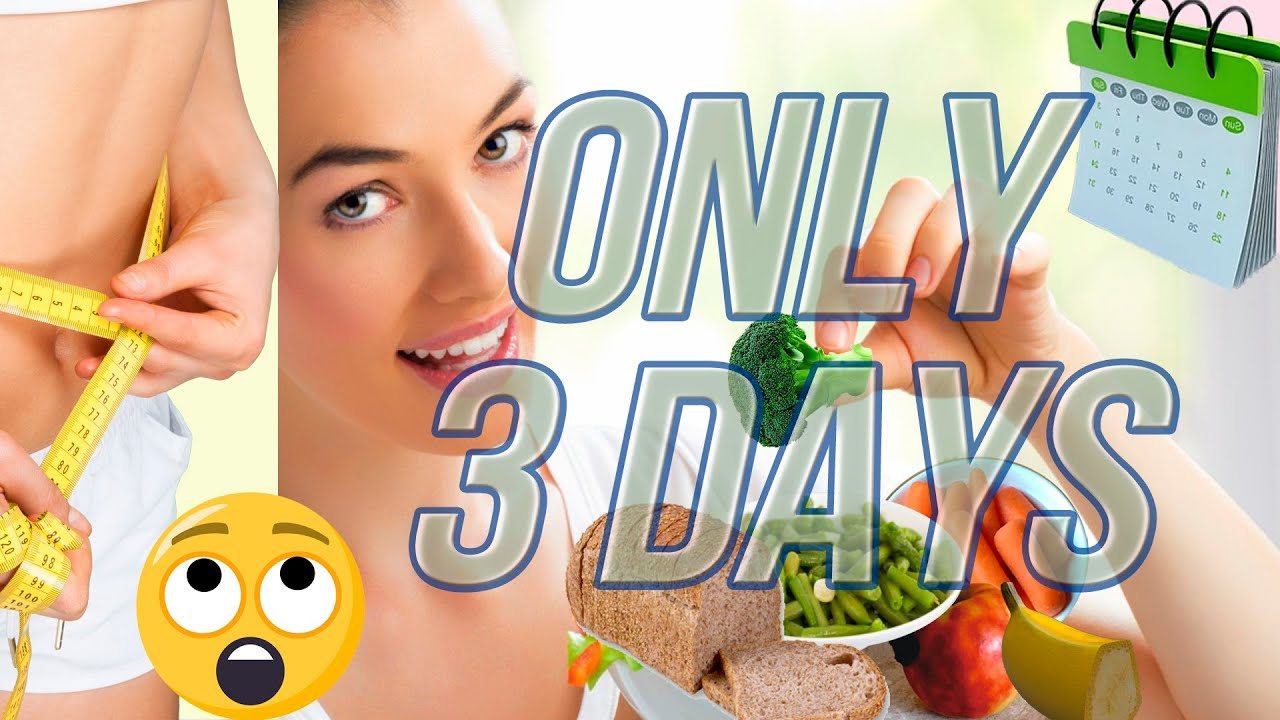 3 Day Diet Nutritional Program to Improve your Figure Quickly, Waist and Neck