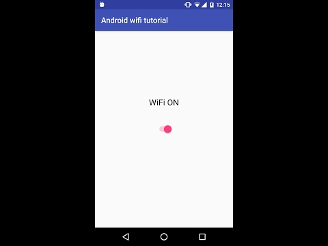 Android Connect/Disconnect Wifi Programmatically Using Android Wifimanager (Demo)