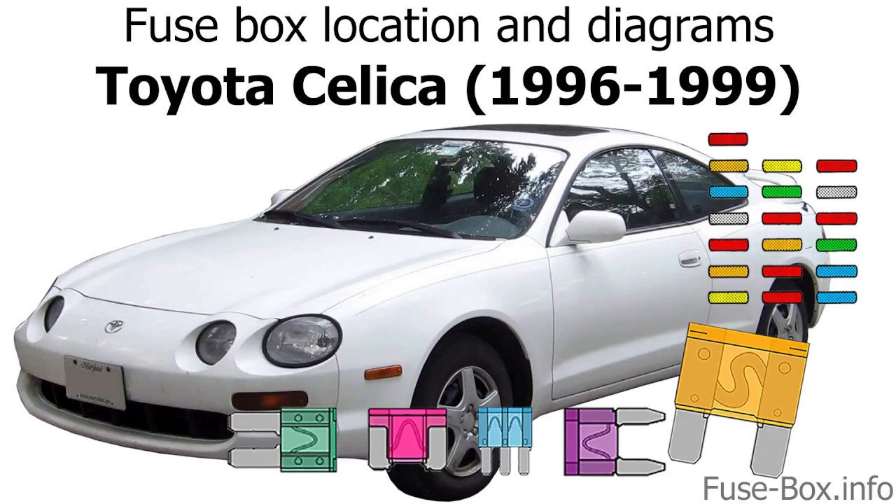 [DIAGRAM_5NL]  Fuse box location and diagrams: Toyota Celica (1996-1999) - YouTube | 94 Supra Fuse Box Diagram |  | YouTube