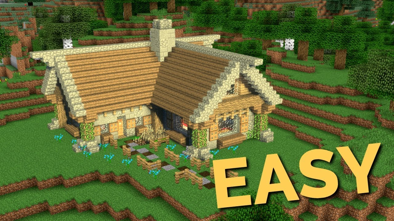 How To Build A Rustic House In Minecraft Block By Block Easy Wooden Cottage Tutorial By Av Youtube
