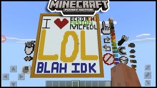 Command Block Working Drawing board Like Servers in minecraft pe  | mcpe ( pocket edition )