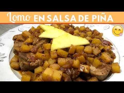 Lomo en salsa de piña  fácil | Cocina de Addy