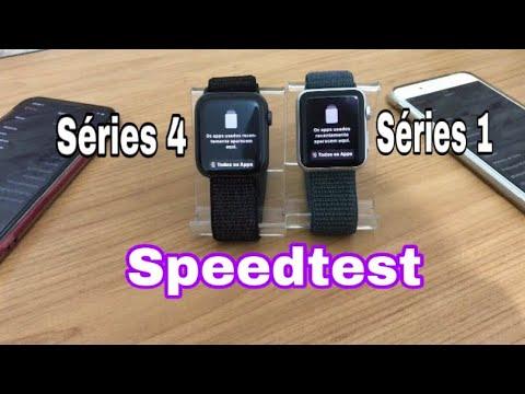 Apple Watch Séries 4 VS Séries 1 !! Teste De Velocidade!! (Speedtest)