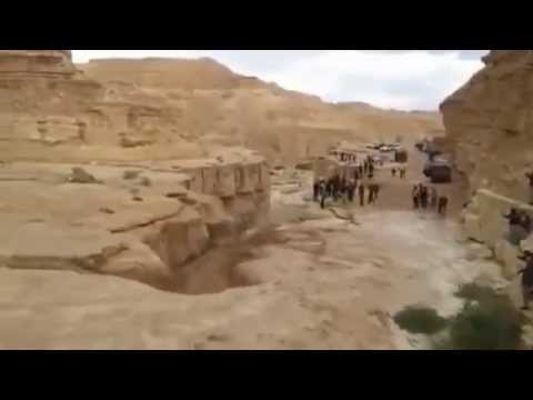 The Incredible Moment A River Is REBORN In The Israel Desert 2014