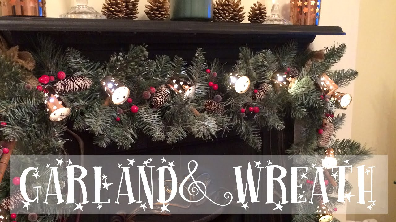 Rustic Christmas Wreath Diy.Christmas Diy Making A Rustic Garland And Wreath