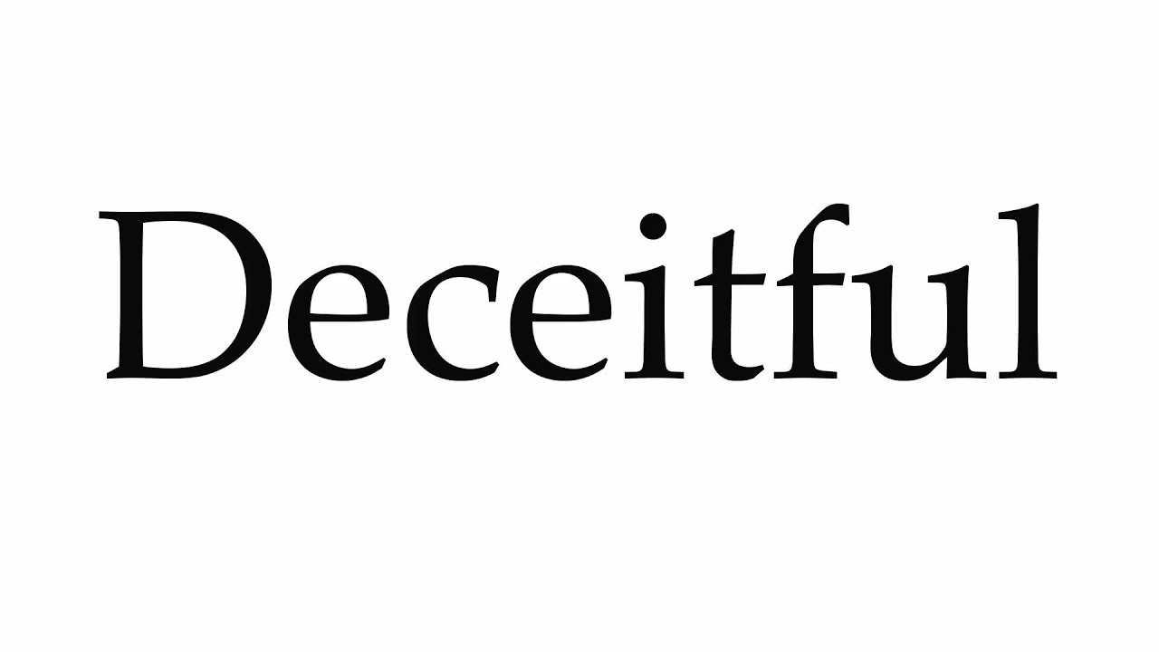 Marvelous How To Pronounce Deceitful   YouTube