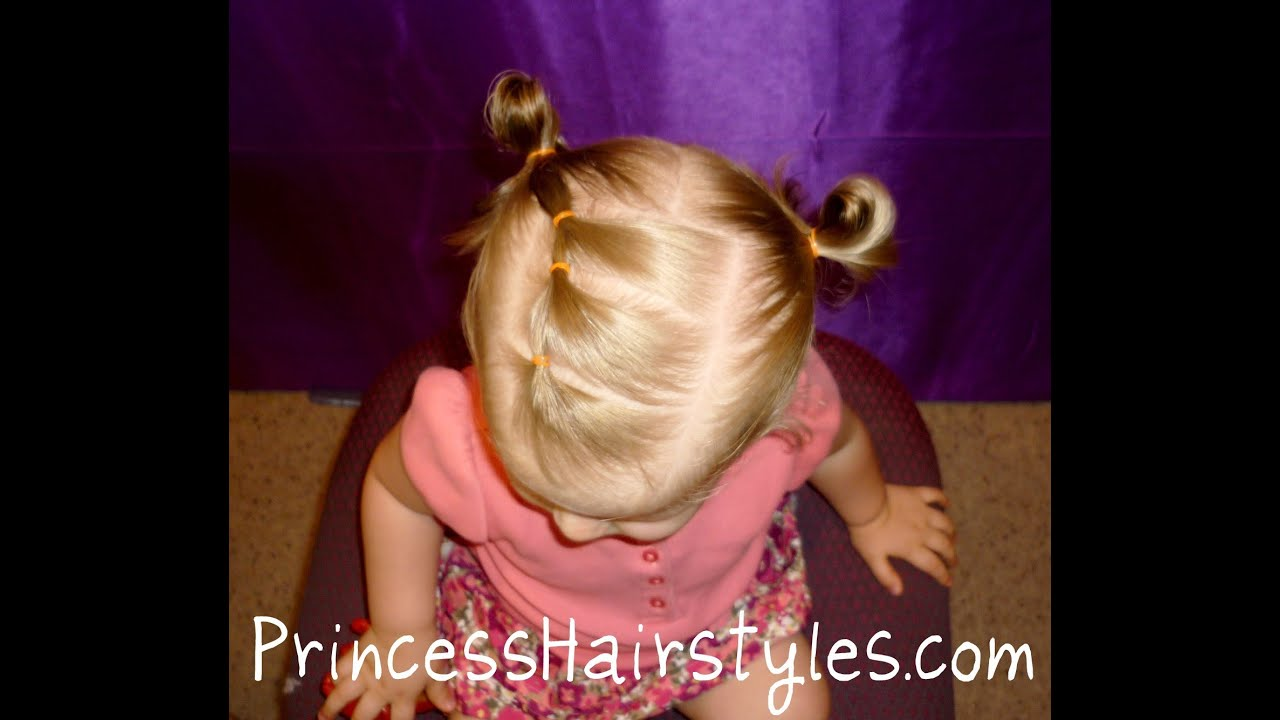 toddler hairstyles, elastic braid pigtails - youtube