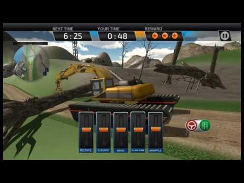 Amphibious Excavator Crane Simulator 3D Game