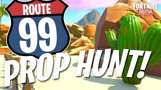 Desert Highway *PROP HUNT* with CODE! | Fortnite: Creative