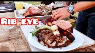 Rib Eye en Salsa de Tuetanos de Vaca del mas alla y Costilla Cargada