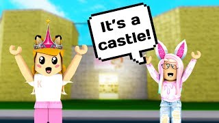 SHE BUILT ME A CASTLE? // Roblox Welcome to Bloxburg // Roblox Subscriber Builds// Roblox Castle