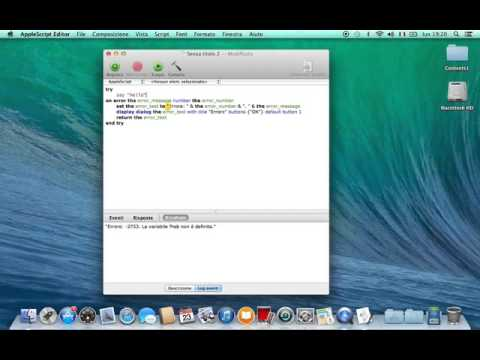 "Tutorial Applescript Editor ""Error Handlers"""