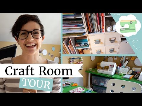 Craft Room Tour - Home Office Organization | @laurenfairwx