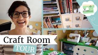 Craft Room Tour - Home Office Organization | @laurenfairwx