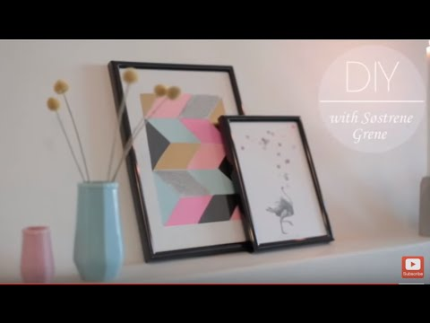DIY: Paper Collage Picture Frame By Søstrene Grene