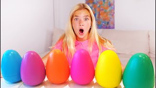 Maggie Pretend Play Learn to Colors with Giant Egg Surprise Toys