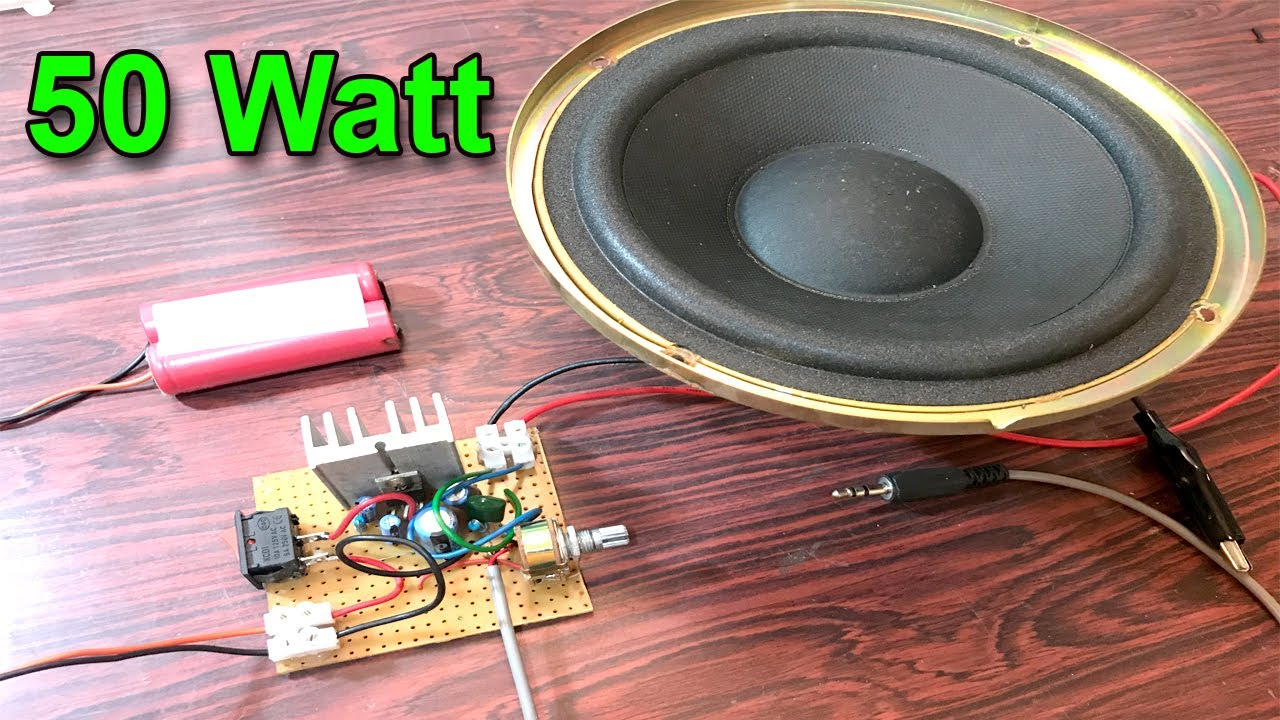 How To Make Easy Amplifier Circuit 50 Watt Using Ic 2003 Youtube Audioamp Board The Features A Power Lm386