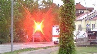 [Schnell wie der Blitz] RTW 2/83-2 DRK wird auf Einsatzfahrt geblitzt