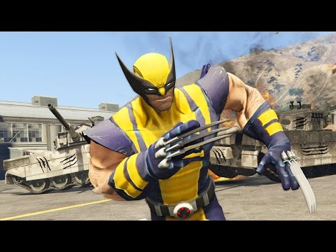 GTA 5 Mods - X-MEN WOLVERINE MOD w/ CLAWS!! GTA 5 Wolverine Mod Gameplay! (GTA 5 Mods Gameplay)