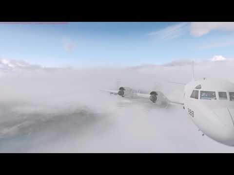 Hurricane Irma - P3 Orion through the EYE - full flight - P3D v4