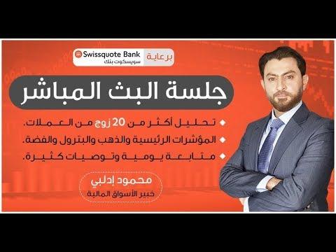 جلسة البث المباشر لتحليلات اليوم 02-04-2020 محمود إدلبي برعاية سويسكوت بنك