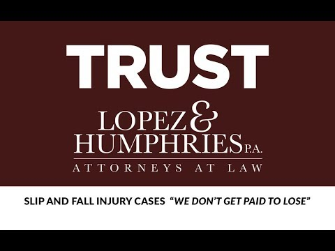 Slip and Fall Accident and Injury Attorney Lakeland FL Sebring FL Largo FL