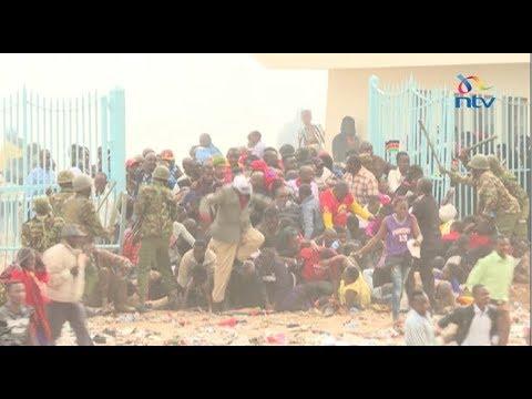 Stampedes, teargas and crowd trouble outside venue of Uhuru Kenyatta's inauguration