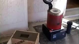 COPPER  INGOT in SAND CASTING MOLD