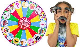 Kids Play with a Magic Wheel!