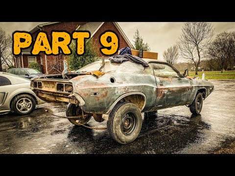 ABANDONED Dodge Challenger Rescued After 35 Years Part 9: Frame Fix And Paint!